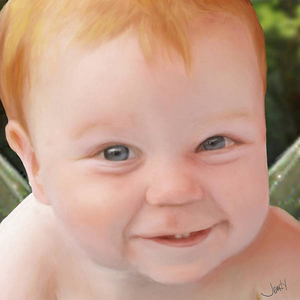 Art Print featuring the painting Cherubic by Jennifer Hickey