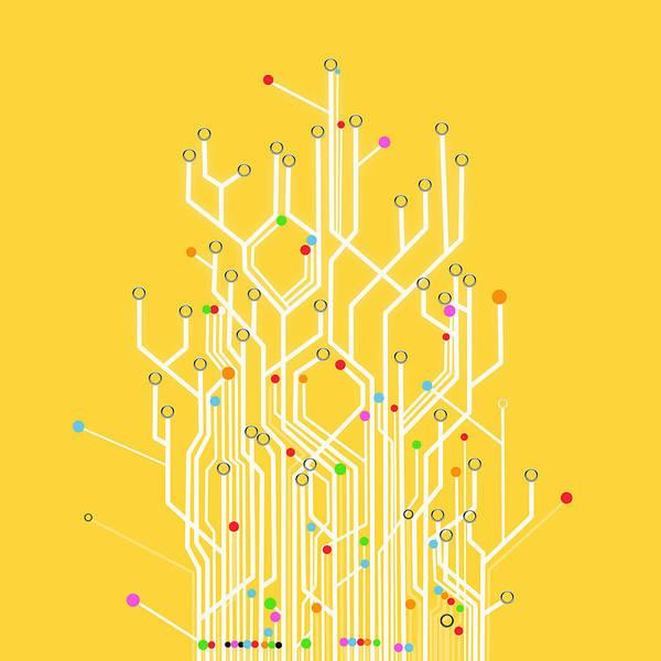 Abstract Art Print featuring the photograph Circuit Board Graphic by Setsiri Silapasuwanchai