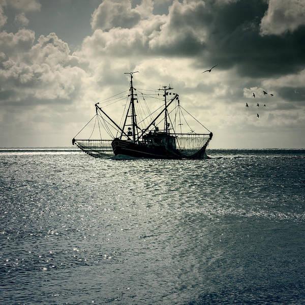 Sea Art Print featuring the photograph Fishing Boat by Joana Kruse