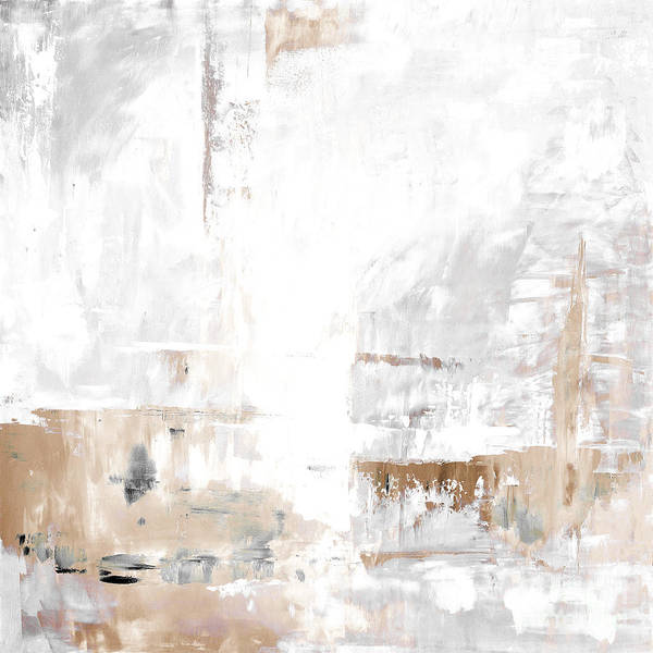 Gray Art Print featuring the painting Gray Brown Abstract 12m3 by Voros Edit