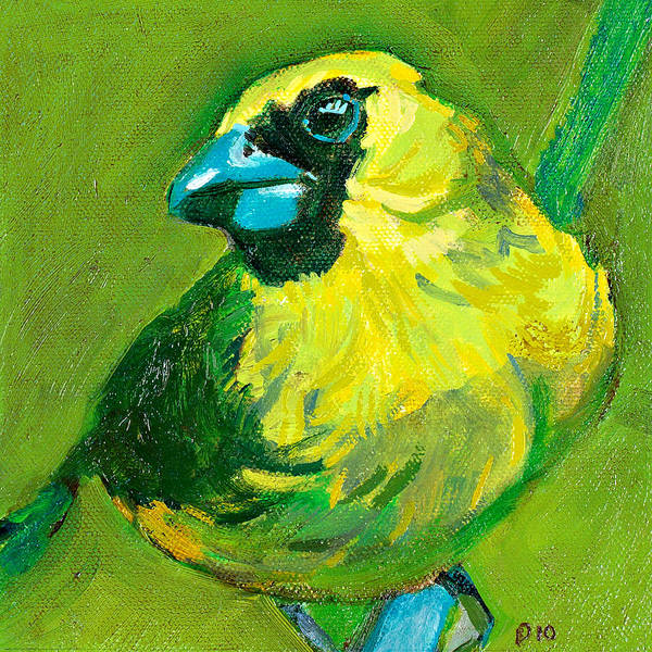 Green Art Print featuring the painting Greenie by Debbie Beukema
