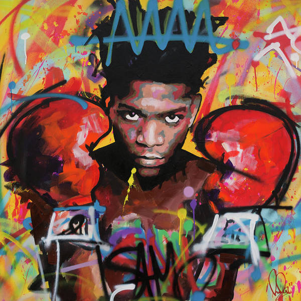 Jean Art Print featuring the painting Jean Michel Basquiat by Richard Day