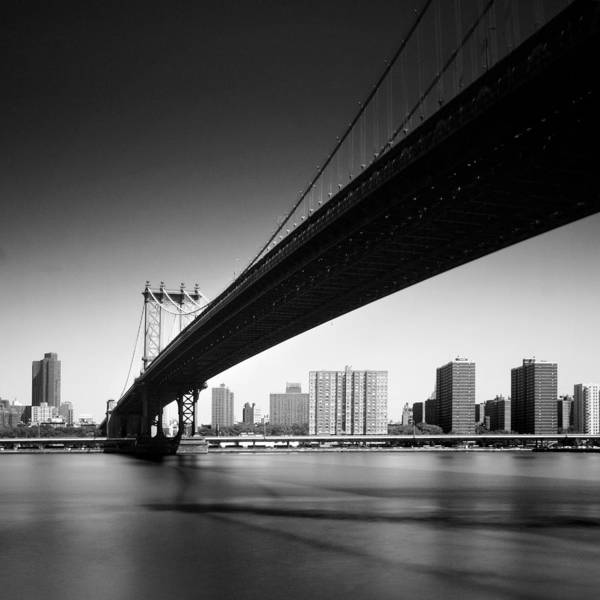 Ny Art Print featuring the photograph Manhattan Bridge by Nina Papiorek