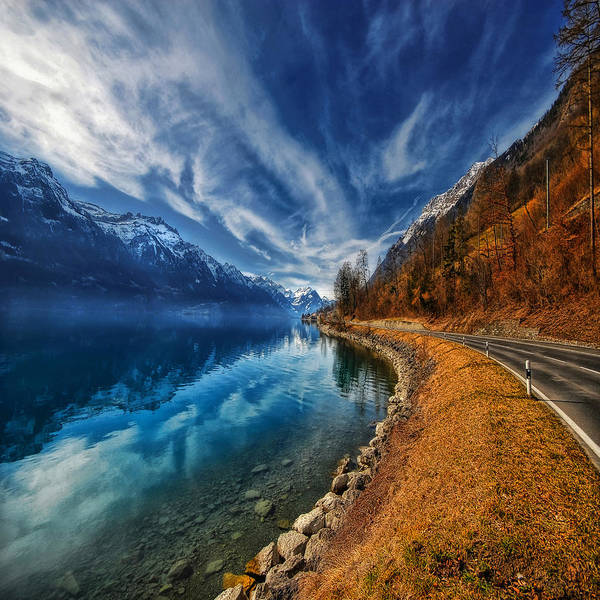 Landscape Art Print featuring the photograph Road To No Regret by Philippe Sainte-Laudy