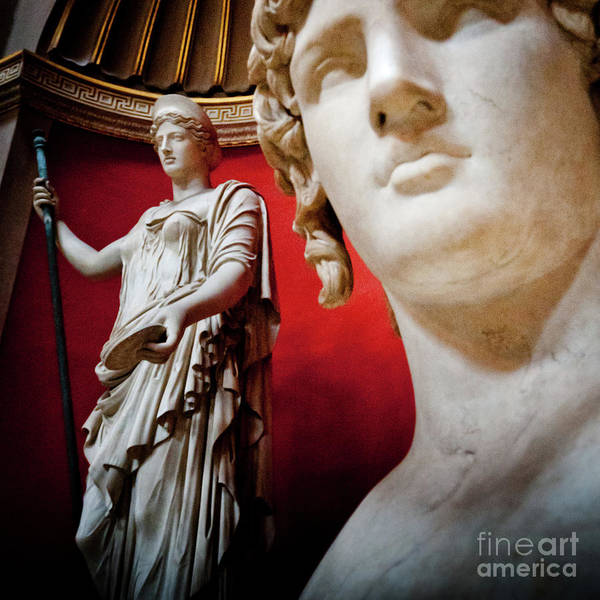 Roma Art Print featuring the photograph Rotunda Colossals 3 Of 3 by Andy Smy