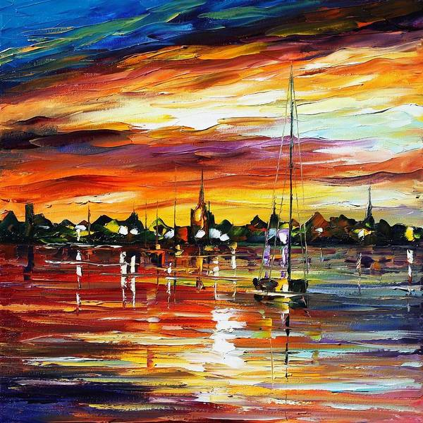 Afremov Art Print featuring the painting Spain by Leonid Afremov
