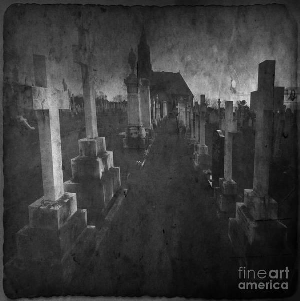 Graveyard Art Print featuring the photograph The Graveyard by Angel Ciesniarska