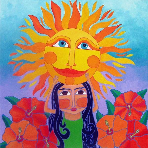 Girl Art Print featuring the painting Verano Amor by Robin Westenhiser
