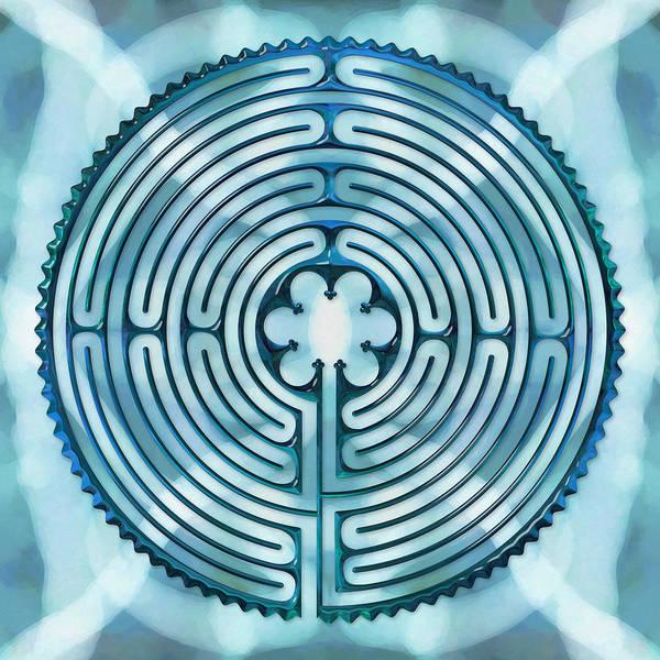 Labyrinths Art Print featuring the digital art 11 Chartres - Beyond Sky by Fine Art Labyrinths