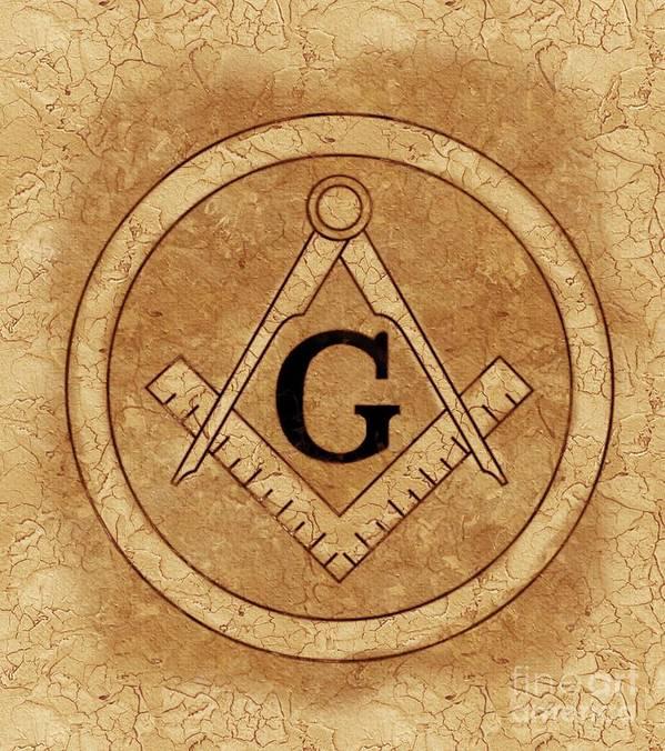 Freemason Masonic Symbols Art Print By Pierre Blanchard