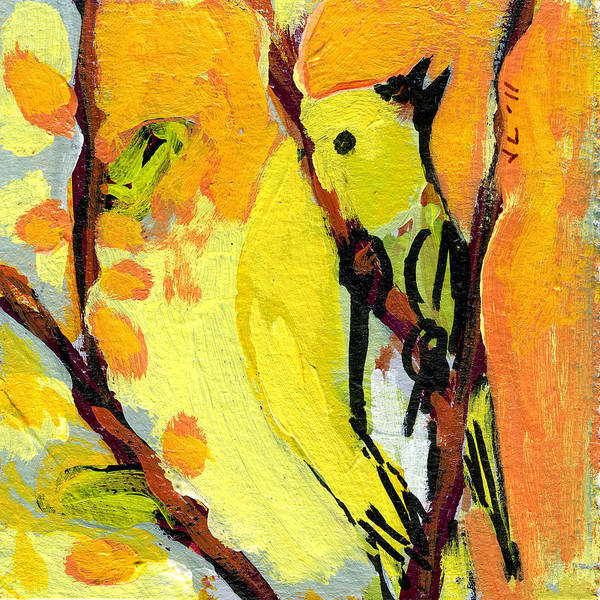 Bird Art Print featuring the painting 16 Birds No 1 by Jennifer Lommers