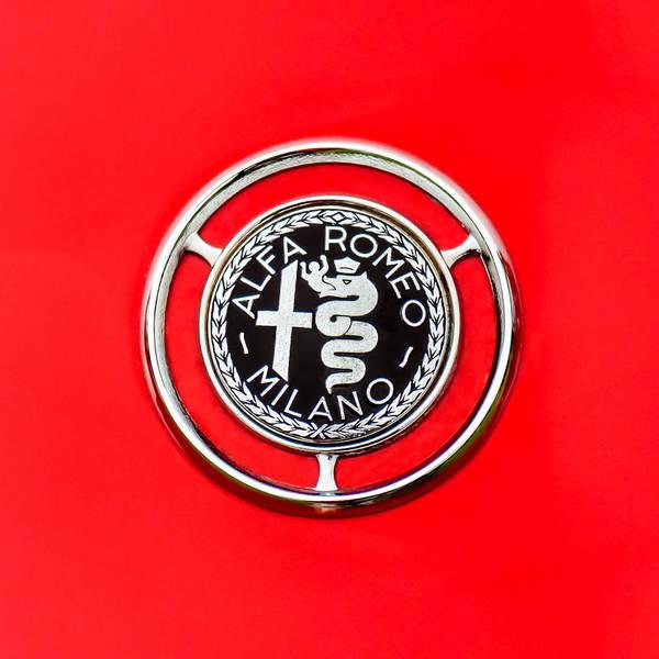1959 Alfa-romeo Logos Art Print featuring the photograph 1959 Alfa-romeo Giulietta Sprint Emblem by Jill Reger