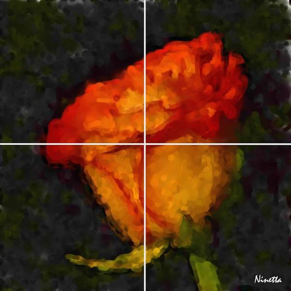 Flower In Poster 1 Art Print featuring the digital art 1.desire Artwork In Poster by Andrea N Hernandez