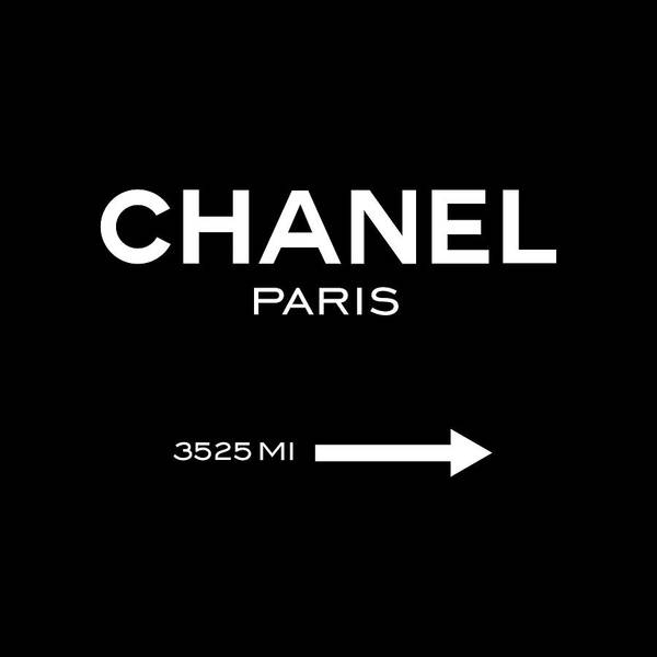 Chanel Art Print featuring the digital art Chanel Paris by Tres Chic