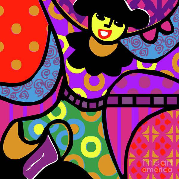 Bright Art Print featuring the mixed media 'mia' by Bobbie Mac