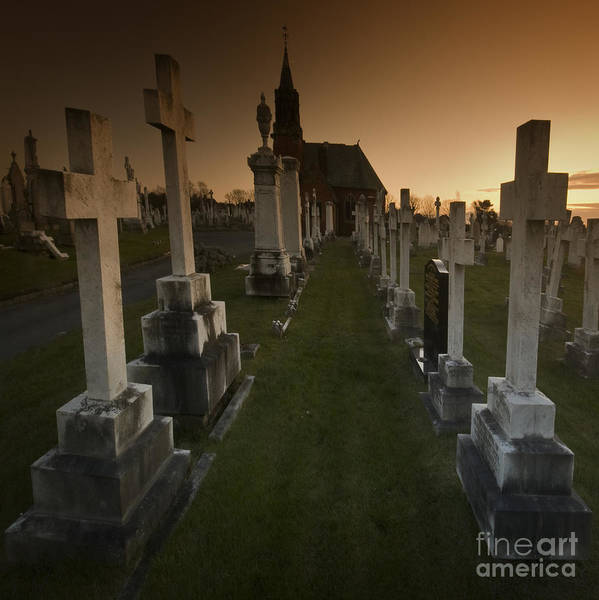 Graveyard Art Print featuring the photograph The Graveyard by Angel Ciesniarska