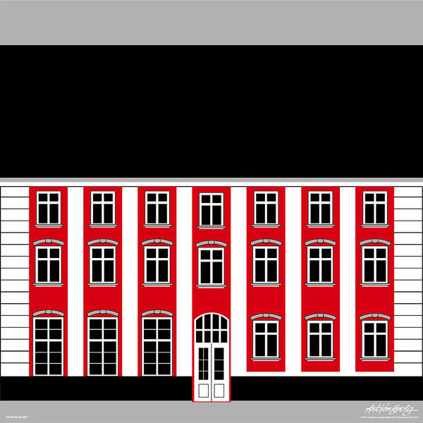 22 North Street Art Print featuring the painting 22 North Street by Asbjorn Lonvig