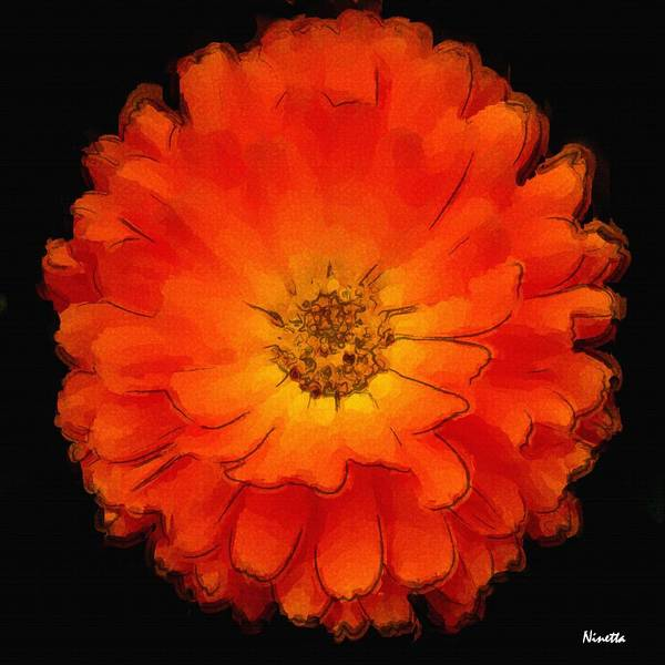Flower In Poster Art Print featuring the digital art 2.5 Enthusiasm Artwork In Poster by Andrea N Hernandez