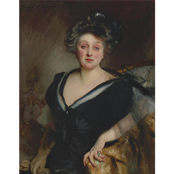 John Singer Sargent 1856 - 1925 Mrs. George Mosenthal Art Print featuring the painting George Mosenthal by John Singer
