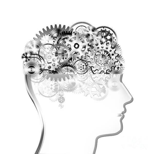 Art Art Print featuring the photograph Brain Design By Cogs And Gears by Setsiri Silapasuwanchai
