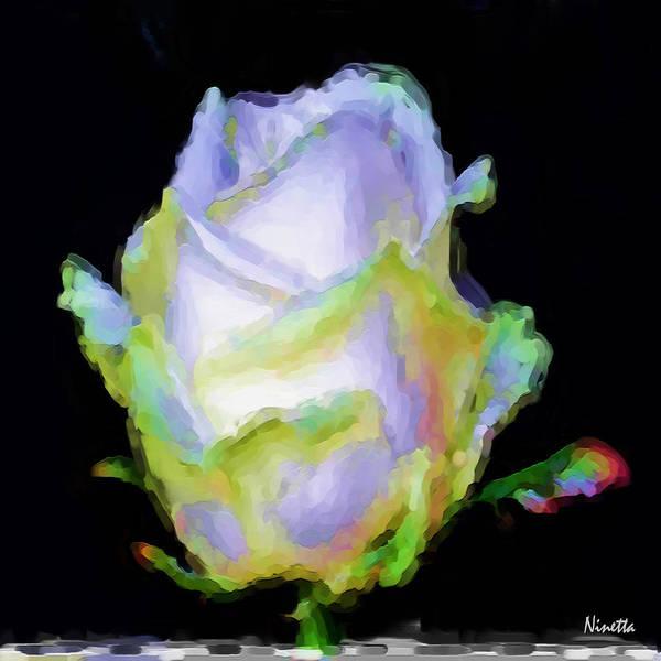 Flower In Poster Art Print featuring the digital art 5.5 Innocence Artwork In Poster by Andrea N Hernandez