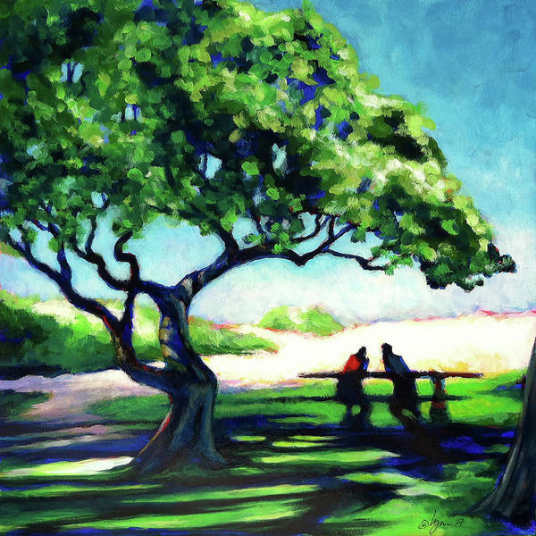 Hawaii Art Print featuring the painting A Spot Of Sun by Angela Treat Lyon