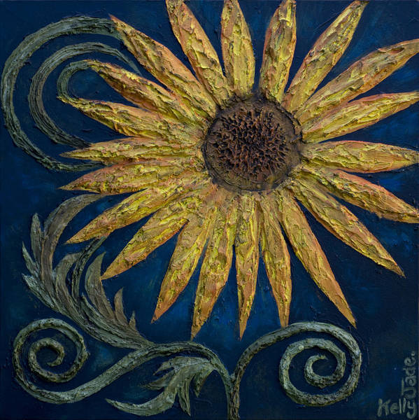Sunflower Art Print featuring the painting A Sunflower by Kelly Jade King