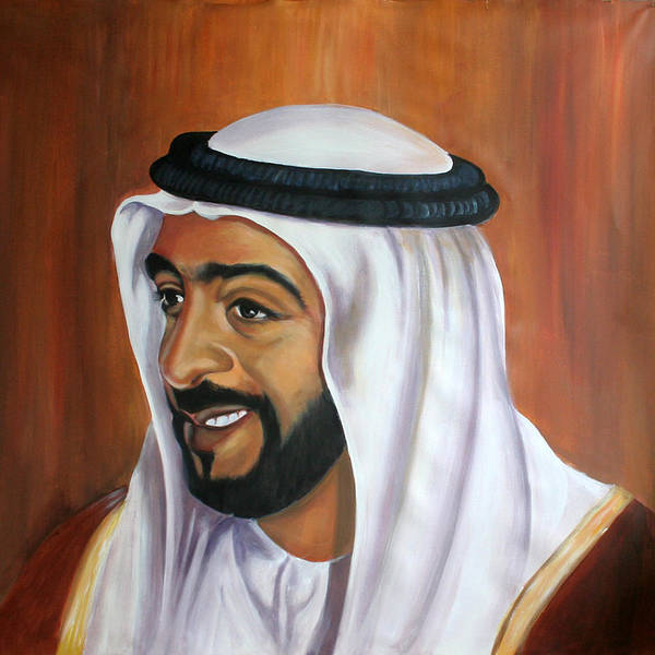 Portrait Art Print featuring the painting Abu Dhabi by Fiona Jack