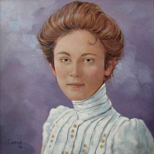 Posthumous Portrait Art Print featuring the painting Ada Douglas by Jerrold Carton