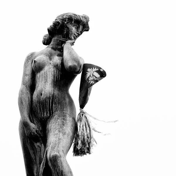 Statue Art Print featuring the photograph After The Party by Dave Bowman