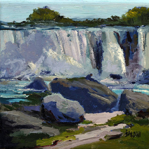 Niagara Falls Art Print featuring the painting American Falls by J R Baldini