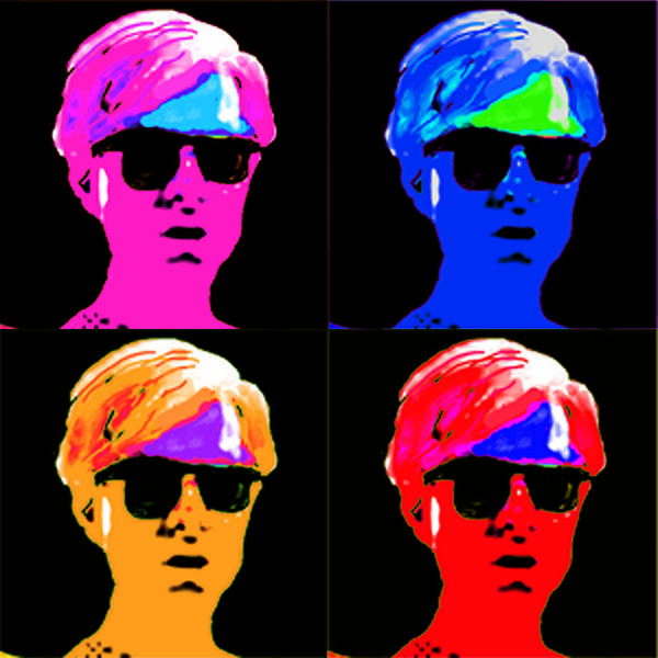 Pop Portrait Art Print featuring the digital art Andy Is Art by Paul Knotter