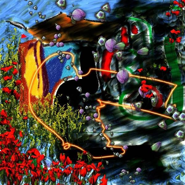 Ocean Water Deep Sea Nature Salad Art Print featuring the digital art Aquatic Salad by Veronica Jackson