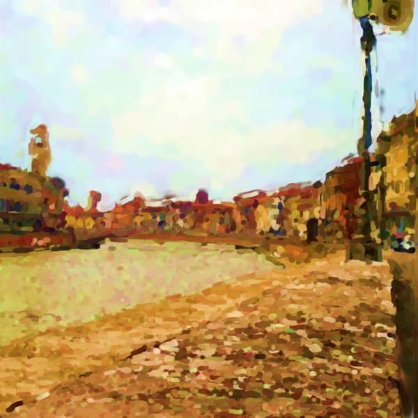 Arno Art Print featuring the photograph Arno Pisa Italia by Asbjorn Lonvig