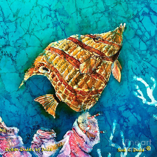 Beaked Butterflyfish Art Print featuring the painting Ascending by Sue Duda