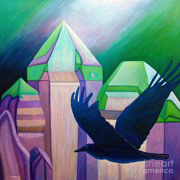 Crystals Art Print featuring the painting Atlantis by Brian Commerford