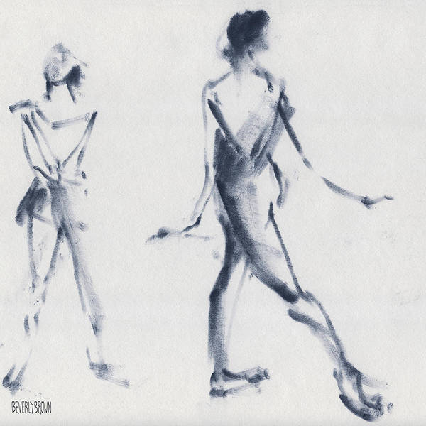 Ballet Art Print featuring the drawing Ballet Sketch Tendu Back by Beverly Brown