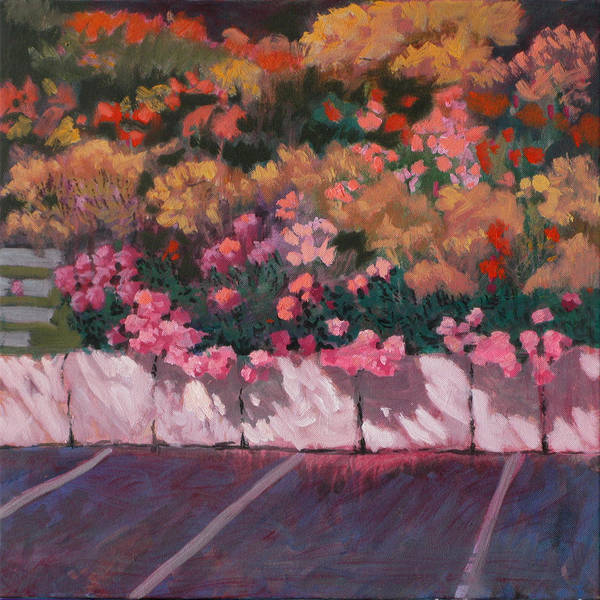 Flowers Art Print featuring the painting Bayside Flowers by Robert Bissett