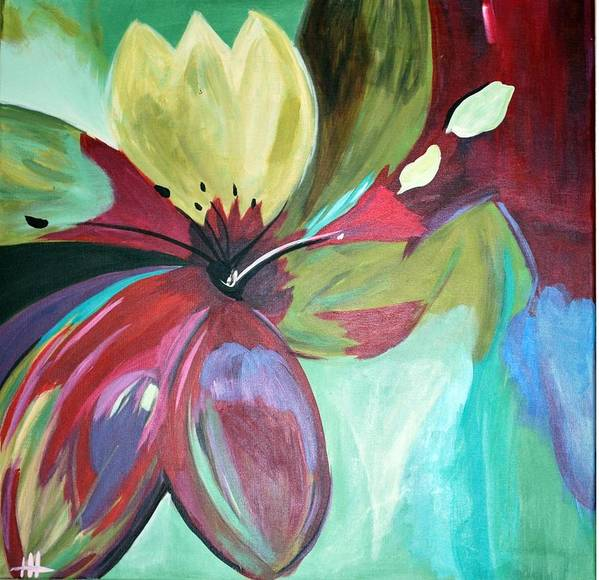 Flower Art Print featuring the painting Beautiful Bloom by Heather Hamrick