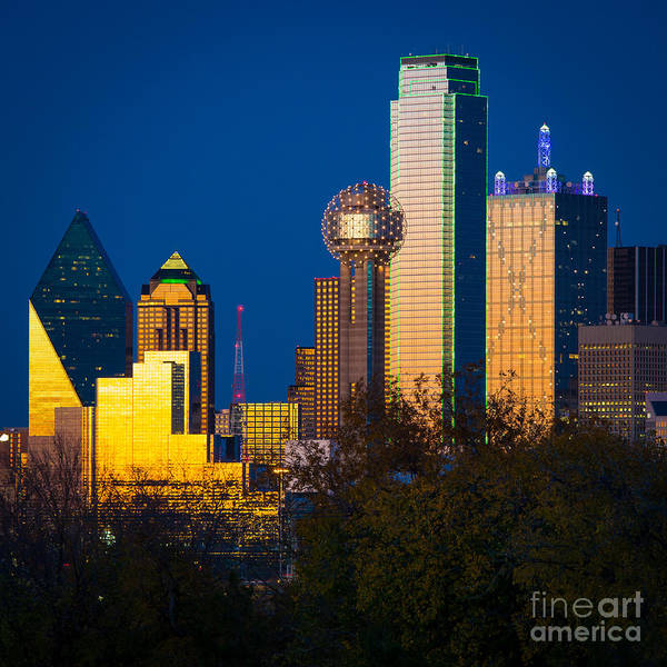 Dallas Art Print featuring the photograph Big D Up Close by Inge Johnsson