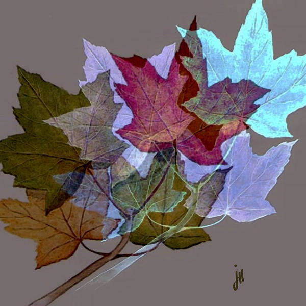 Nature Art Print featuring the painting Birds In The Leafs by Jonathon Hetts