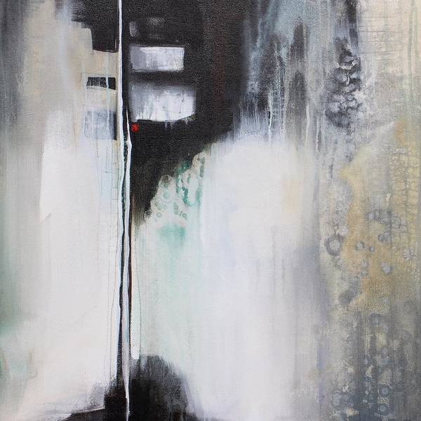 Modern Art Print featuring the painting Black And White Drama 1 by Karen Hale
