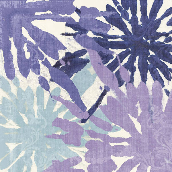 Ikat Art Print featuring the painting Blue Curry II by Mindy Sommers