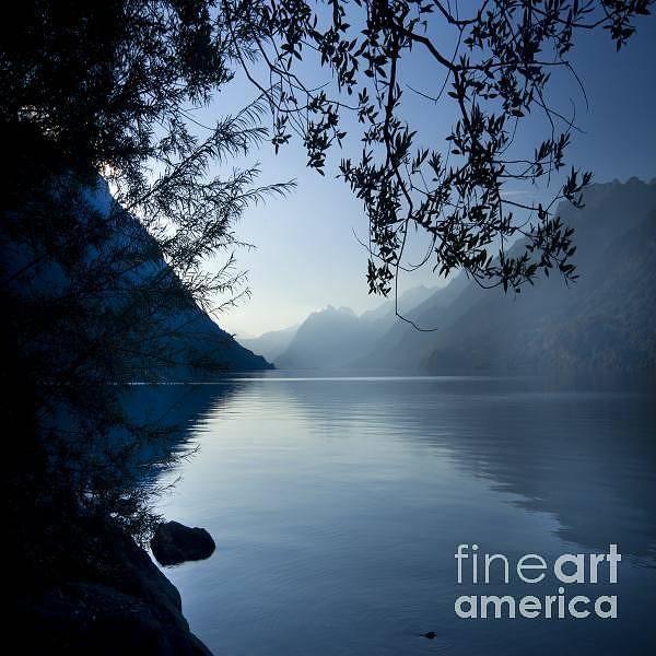 Alps Art Print featuring the photograph Blue Lake by Angel Ciesniarska