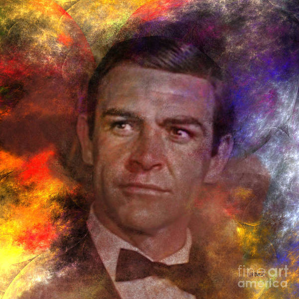 James Bond Print featuring the digital art Bond - James Bond - Square Version by John Robert Beck