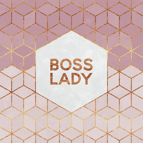 Graphic Art Print featuring the digital art Boss Lady by Elisabeth Fredriksson