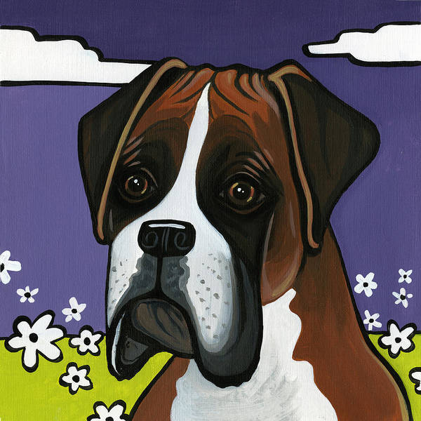 Boxer Art Print featuring the painting Boxer by Leanne Wilkes