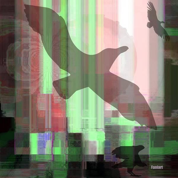 Fania Simon Art Print featuring the mixed media Break Free by Fania Simon