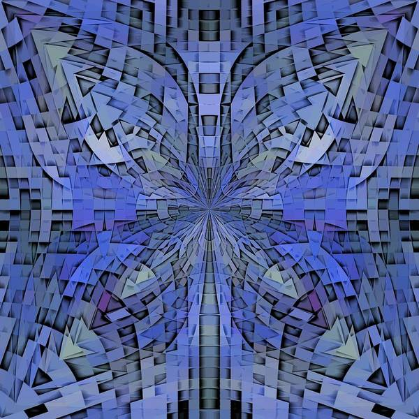Abstract Art Print featuring the digital art Can You Hear Me Now by Tim Allen