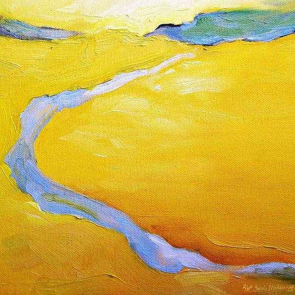 Landscape Art Print featuring the painting Carmel River by Sarah Madsen